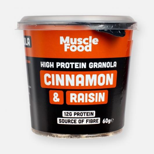 MuscleFood High Protein Cinnamon & Raisin Granola Pot - 60g