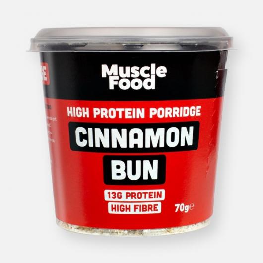 MuscleFood High Protein Cinnamon Bun Porridge 70g