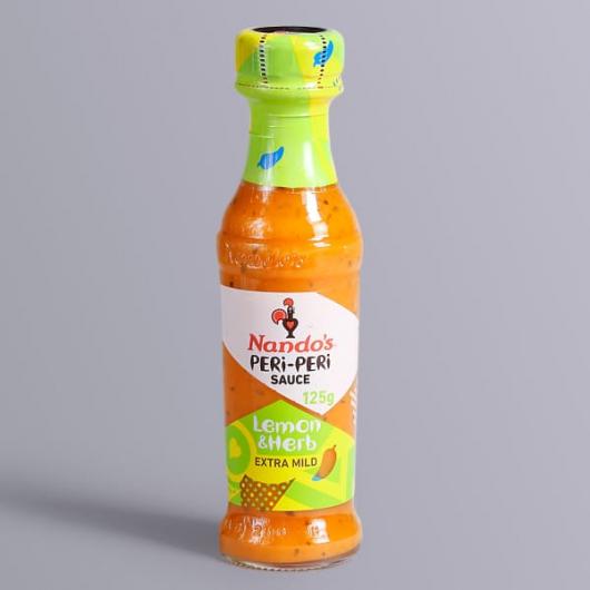 Nando's Peri Peri Sauce - Lemon & Herb-125g Bottle