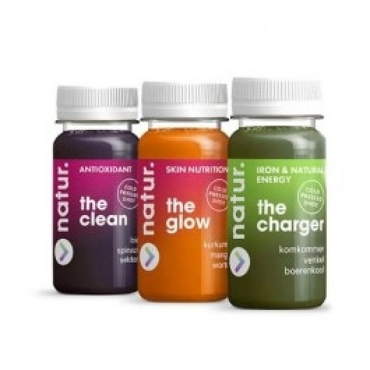 3 x 100ml Cold Pressed Fruit and Veg Juice Shots ****