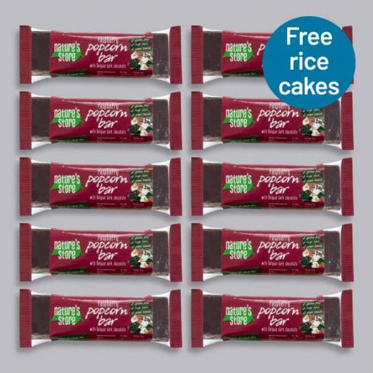 Nature's Store Dark Chocolate & Raspberry Popcorn Bar 10 x 35g