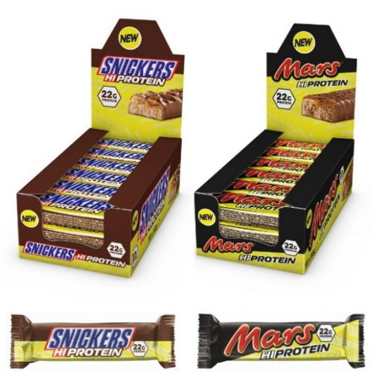 High Protein Mars & Snickers Bars