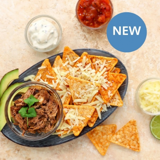 High Protein Pulled Pork Loaded Nacho Kit