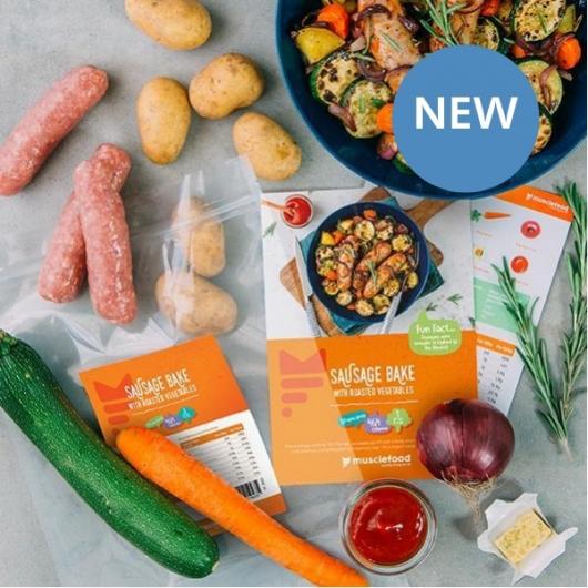 Sticky Chilli Sausage & Veg Bake - 1 Person Recipe Kit