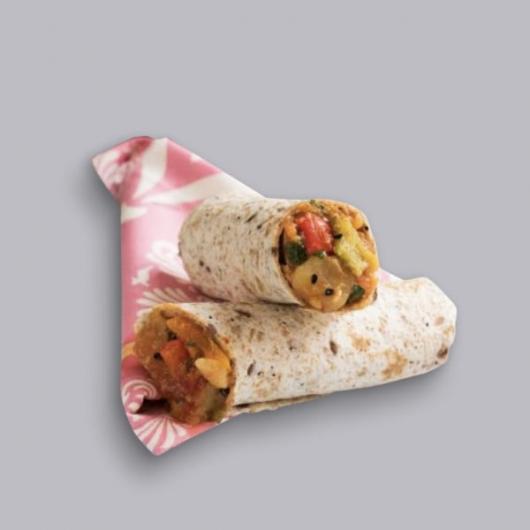 Nom Noms Indian Vegan Chickpea Kathi Wrap