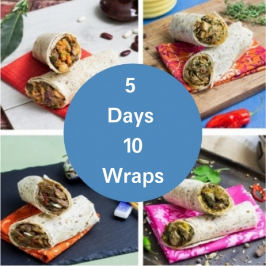 Nom Noms Week Lunches - 2 People - 10 Wraps