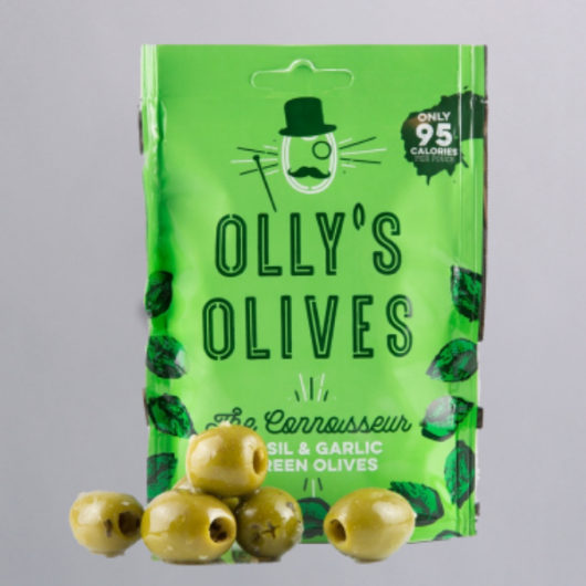 Olly's Olives Snack Pouches - Basil & Garlic MF_SN565