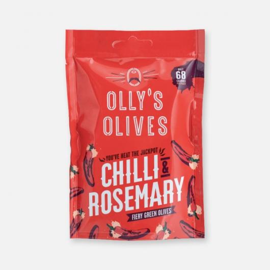 Olly's Olives Chilli & Rosemary Halkidiki Olives - 50g