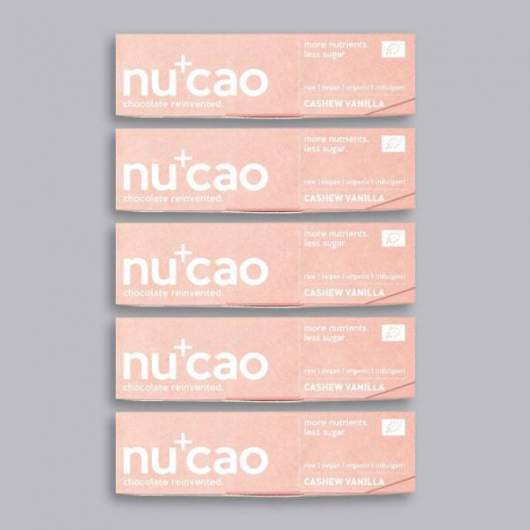 5 x Organic Chocolate Bar - Cashew Vanilla – nucao