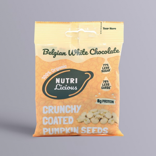 Nutrilicious White Chocolate Organic Pumpkin Seeds - 30g