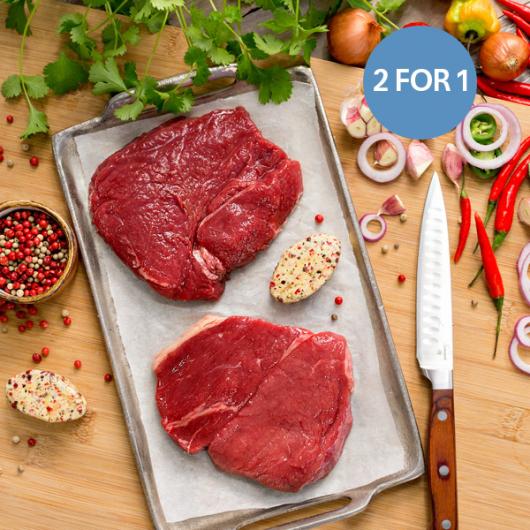 4 x 170g Rump Steaks & Peppercorn Butter