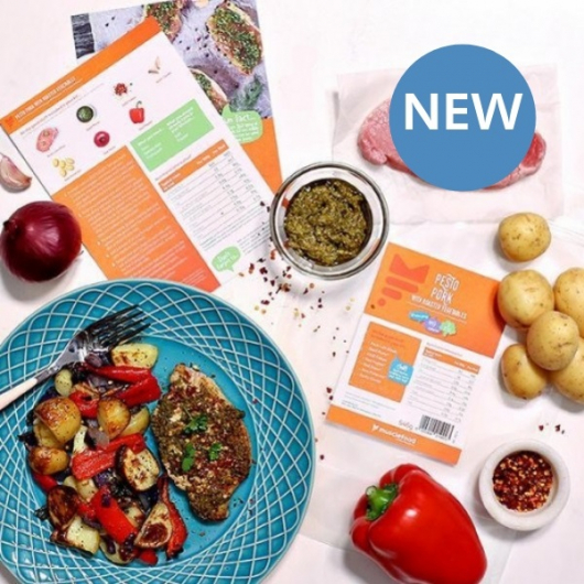 Pesto Pork with Mediterranean Veg Recipe Kit