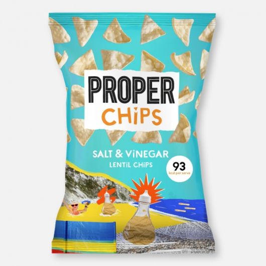 PROPERCHIPS – Salt & Vinegar Share Bag 85g