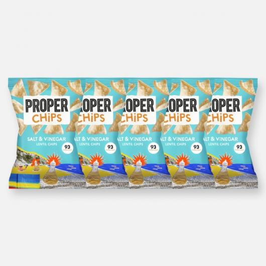 PROPERCHIPS - Salt & Vinegar 5 x 24g