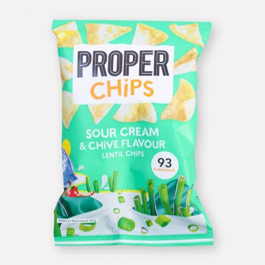 PROPERCHIPS - Sour Cream & Chive Lentil Crisps