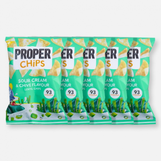 PROPERCHIPS - Sour Cream & Chive - 5 x 20g
