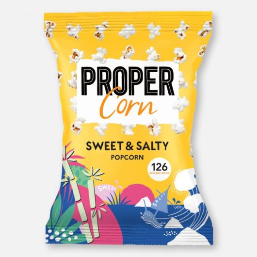 PROPERCORN - Sweet & Salty Popcorn Share Bag 90g
