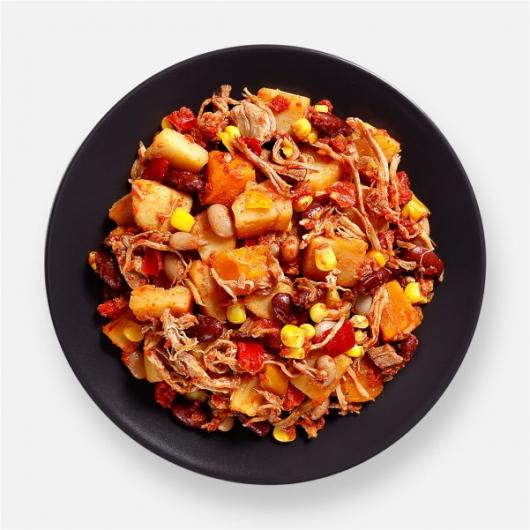 BBQ Pulled Pork & Potato Pot - 346 kcal