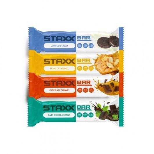 4 x 60g STAXX Protein Bars – 20g Protein