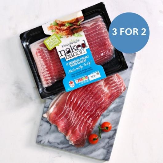 Nitrate Free Streaky Bacon - 36 x 16g Rashers