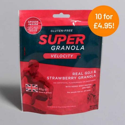 Super Granola Goji & Strawberry 65g - 10 for £4.95