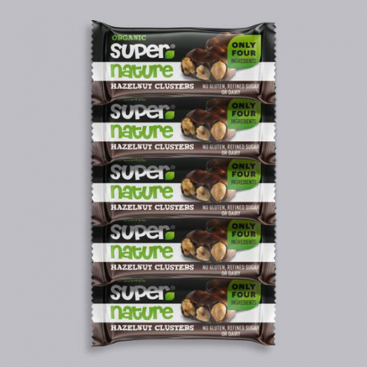 5 x Supernature Hazelnut Clusters 34g