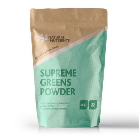 Vegan Friendly Organic Supreme Greens Powder by Natural Nutrients - 300g ****