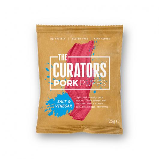 The Curators - Salt & Vinegar Pork Puffs 25g
