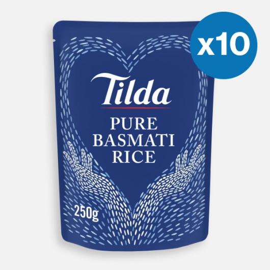 Basmati Rice Pouches - 10 x 250g