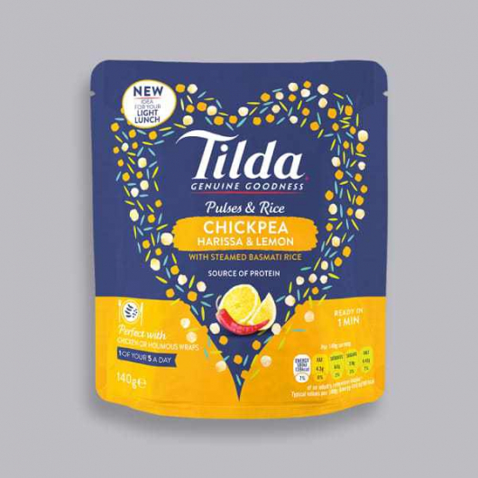 Tilda Pulses and Rice Snack - Chickpea, Harissa and Lemon 140g