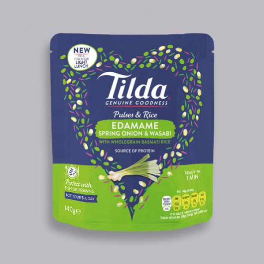 Tilda Pulses and Rice - Edamame, Spring Onion and Wasabi 140g
