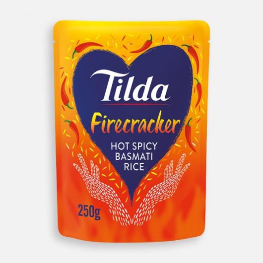 Tilda Microwave Hot Firecracker Basmati Rice 250g