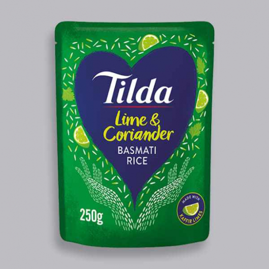 Tilda Microwave Lime and Coriander Basmati Rice 250g