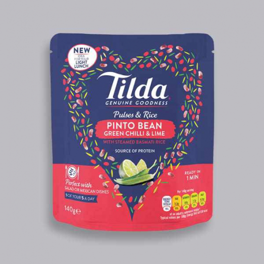 Tilda Pulses and Rice - Pinto Bean, Green Chilli and Lime 140g