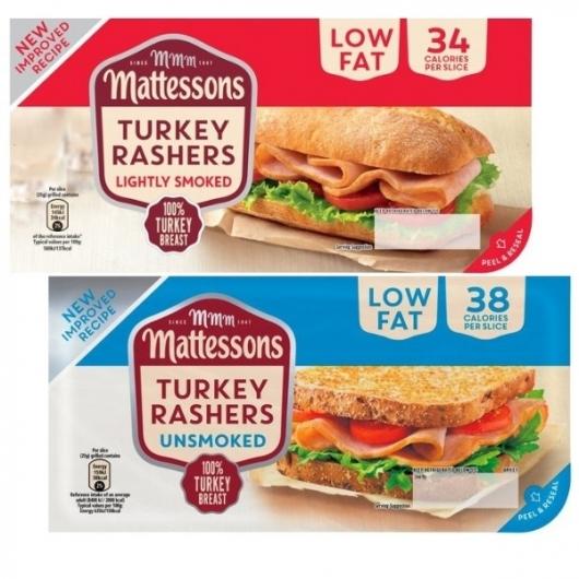 Mattessons Smoked & Unsmoked Turkey Rashers - 200g