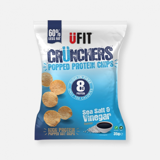UFIT Crunchers Salt & Vinegar High Protein Popped Chips - 35g