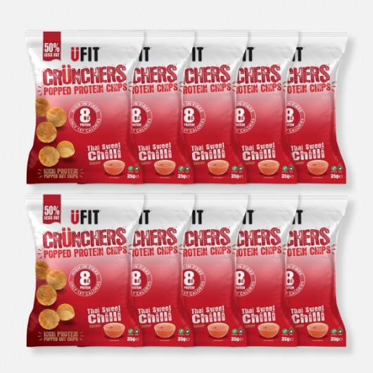 UFIT High Protein Popped Chips - Sweet Chilli - 10 x 35g