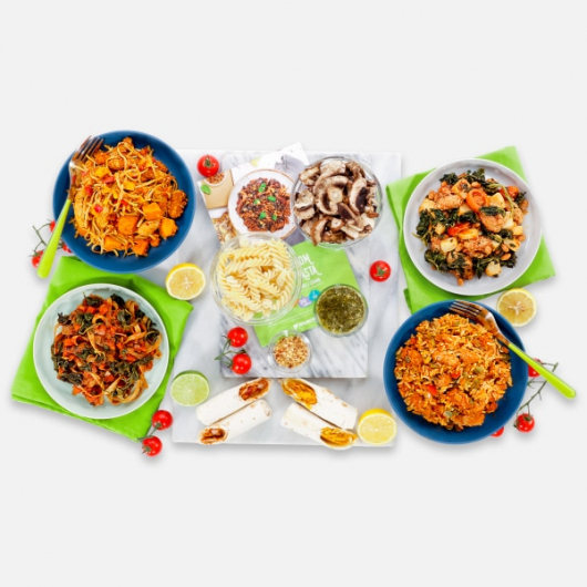 Vegan Meals for One Person - 7 Servings