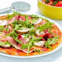 Ham & Mushroom High Protein Pizza