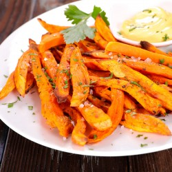 Salt & Pepper Skin-on Sweet Potato Fries