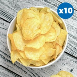 Salt and Vinegar 12g Protein Crisps - 10 Packs
