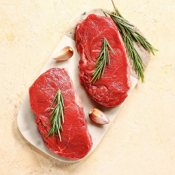 2 x 170g Matured Free Range Sirloin Steaks