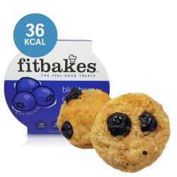 High Protein Blueberry Muffins by Fitbakes