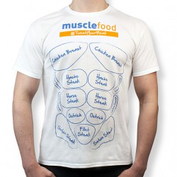 Novelty Fitted Muscle Food T-Shirt