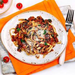 Vegan Mushroom Ragu with Tagliatelle 272 Kcal