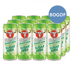 24 x Carabao Green Apple Sugar Free Energy Drink - BOGOF