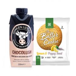 Lemon & Poppy Seed Protein Cookies and Milk Bundle - 20g+ Protein