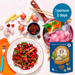 Easy Express Quinoa + Chinese Style Pork Stir Fry for 2 Days