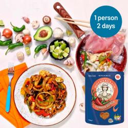 Easy Express Quinoa + Chicken Fajita Stir Fry Meals for 2 Days