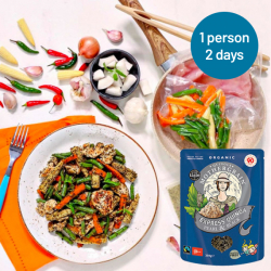 Easy Express Quinoa + Thai Chicken Stir Fry Meals for 2 Days